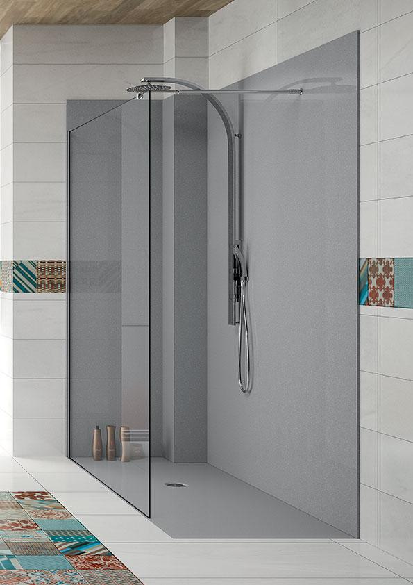Remplacer-la-baignoire-par-une-douche,-receveur-et-panneaux-muraux-de-douche-gris2