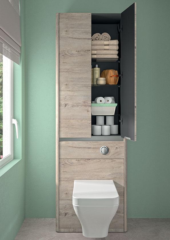 Aménager des rangements dans les toilettes avec un meuble WC ...