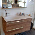 Meuble de salle de bains joya ambiance bain design mathilde bretillot, miroir, meuble vasque, 2 tiroirs