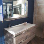 Meuble salle de bains joya ambiance bain, miroir joya, vasque smo lite, design mathilde bretillot,