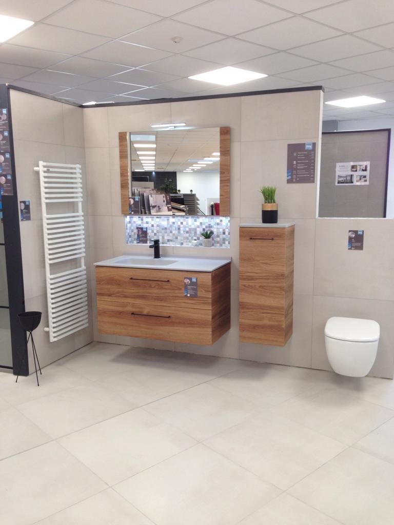 Meuble salle de bains, meuble vasque maia ambiance bain, demi colonne, miroir , ligne exclusive au fil de bain