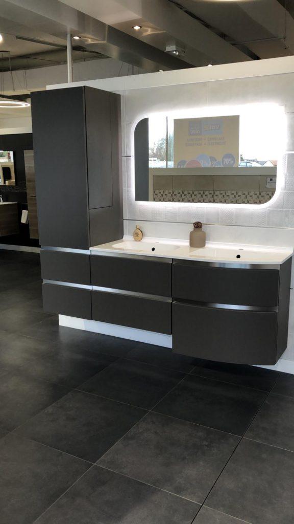 Meuble de salle de bains noir Aviso Ambiance Bain