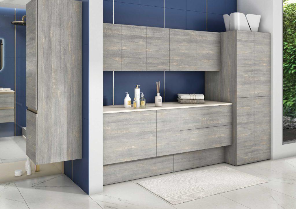 meuble buanderie dans la salle de bains