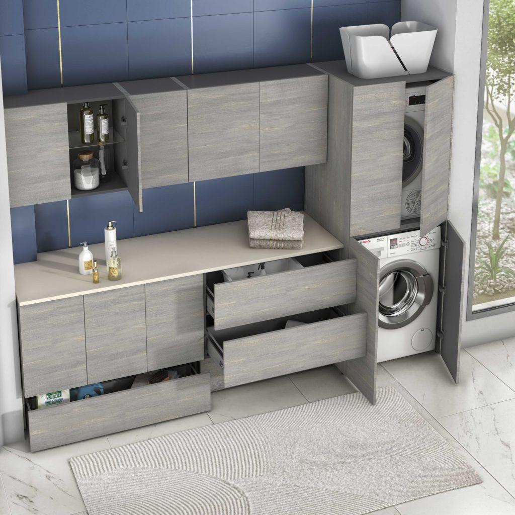 buanderie salle de bains, colonne lave linge, colonne sèche linge, mettre sa machine à laver dans la salle de bains