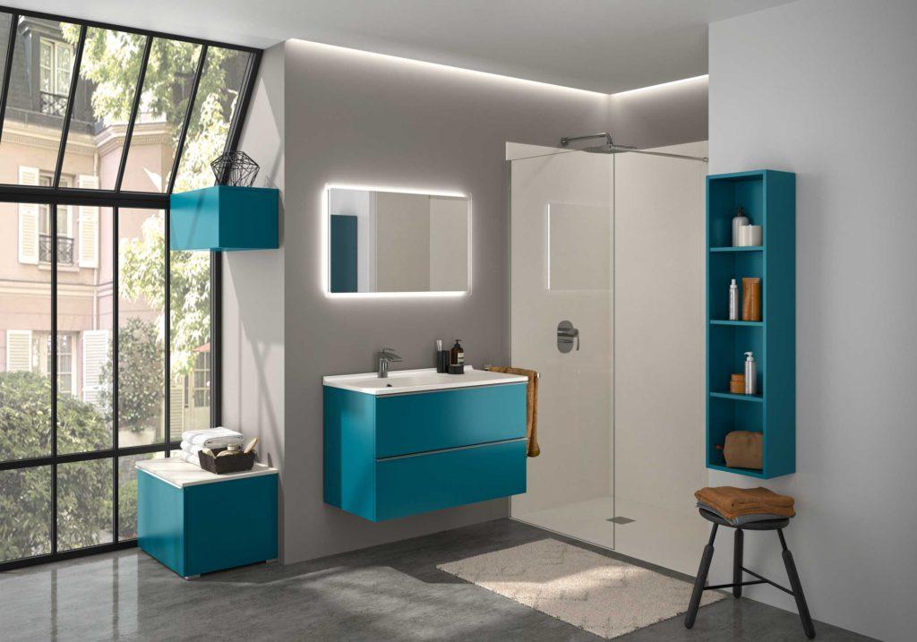 akido meuble de salle de bain bleu vert